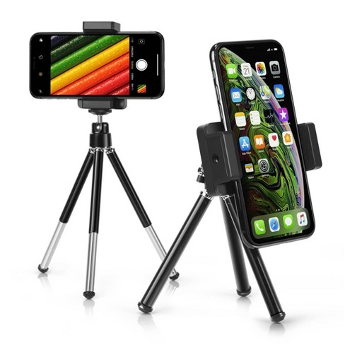 Insten Portable Mini Cell Phone Tripod Desk Holder & Stand Compatible with iPhone 12/12 Pro Max/Mini/SE 2020/11, Samsung Galaxy Universal Android - image 1 of 4