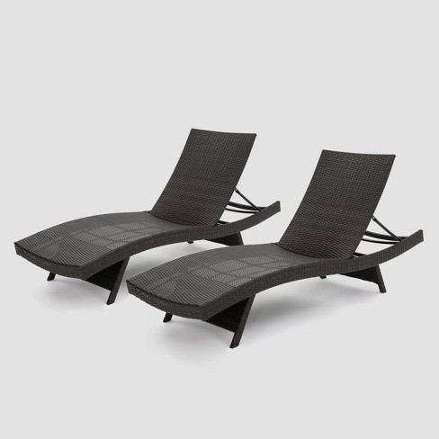 M 2pk Wicker Adjustable Chaise, Chaise Lounge Chairs Outdoor Target