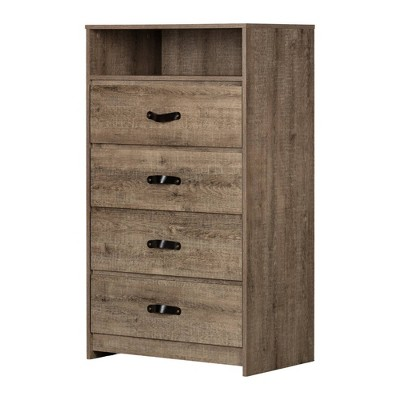 Sazena 4 Drawer Chest Oak - South Shore