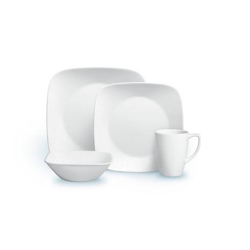 Corelle Square 16pc Vitrelle Dinnerware Set Pure White - image 1 of 4