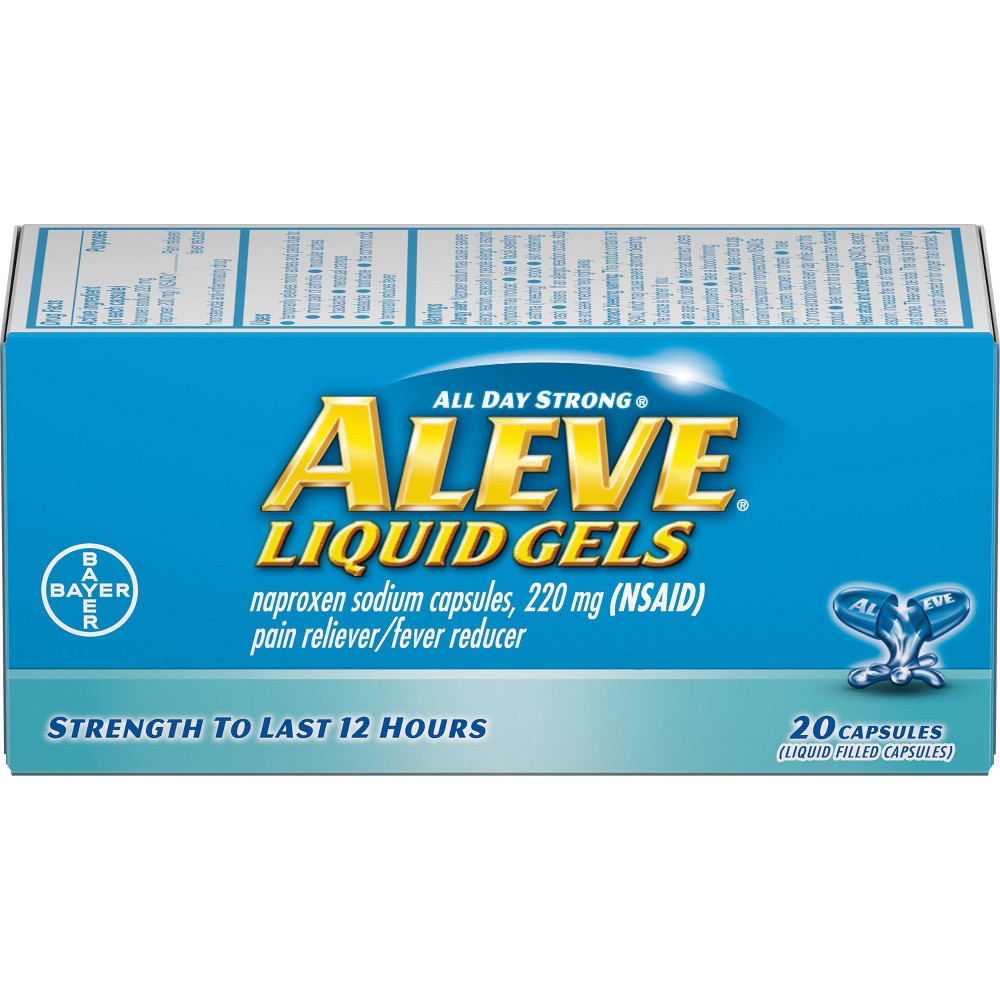 Aleve Liquid Gels, Naproxen Sodium Capsules 120 Count Now $7.74 (Was $21.03)