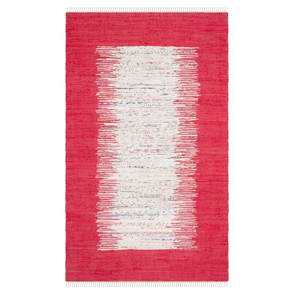 Bettina Flatweave Area Rug - Ivory / Red (5' X 8') - Safavieh