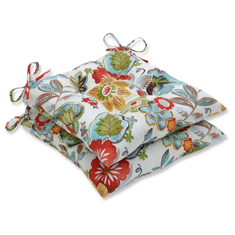 Outdoor Indoor Alatriste Ivory Wrought Iron Seat Cushion Set Of 2 Pillow Perfect