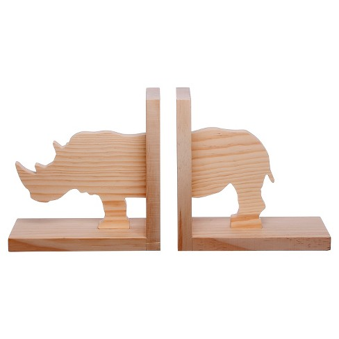 Hand Made Modern Book Ends - Rhino 2pc - image 1 of 1