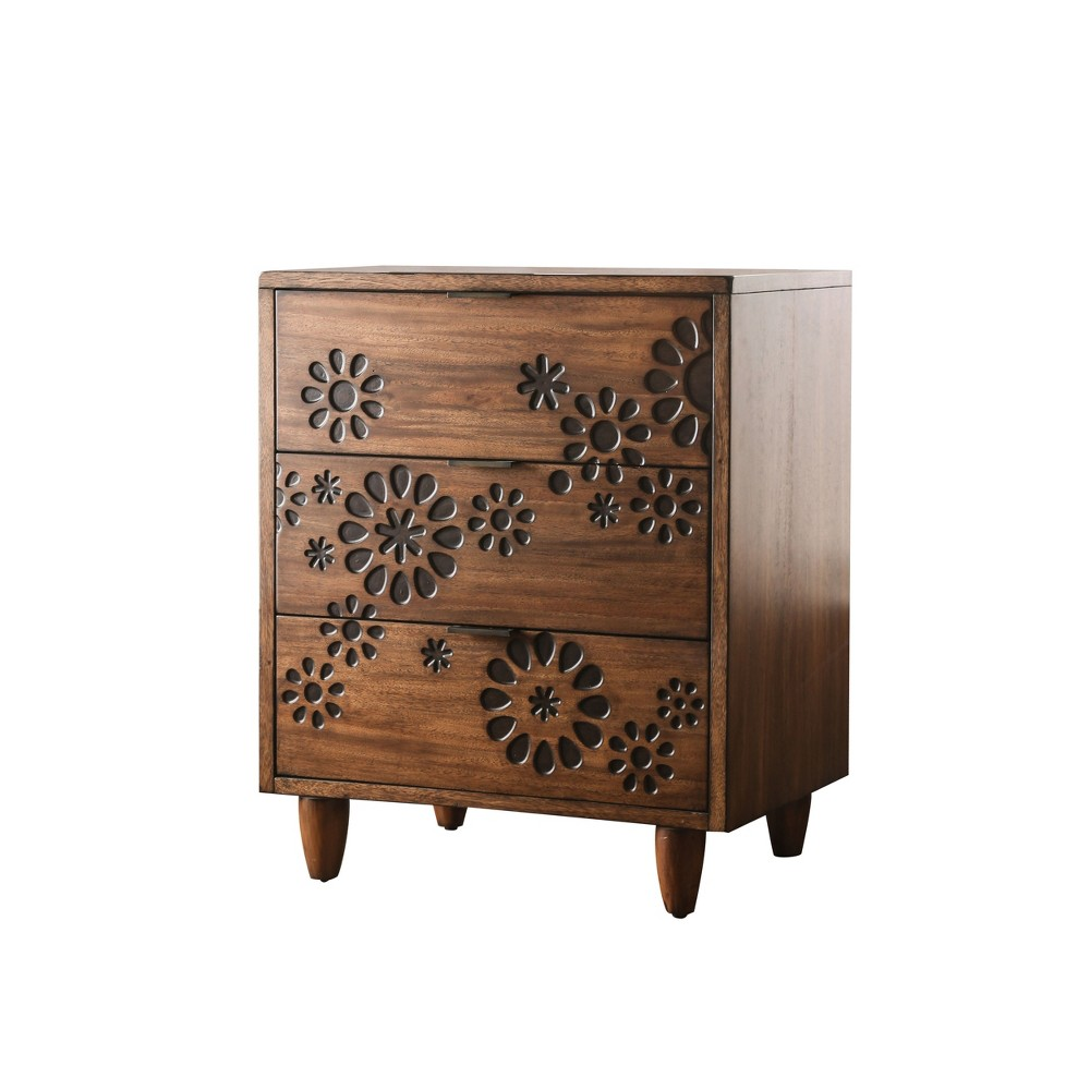 Jenkins 3 Drawer Chest Oak Brown - Homes: Inside + Out
