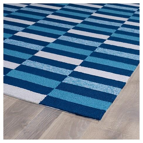 Kaleen Rugs Matira Rectangles Indoor Outdoor Area Rug Blue 7 6 X9