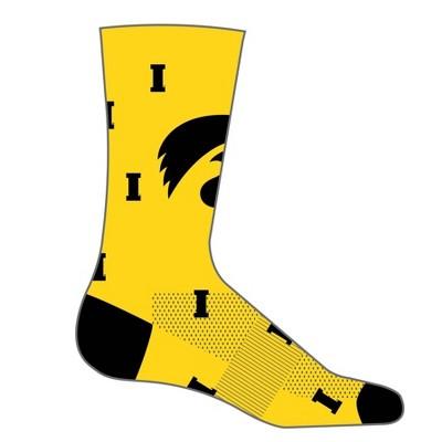 NCAA Iowa Hawkeyes Men's Madness Crew Socks 10-13