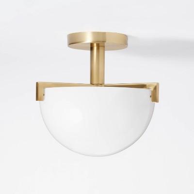 Milk Glass Dome Flushmount Ceiling Light White - Threshold™ designed with Studio McGee