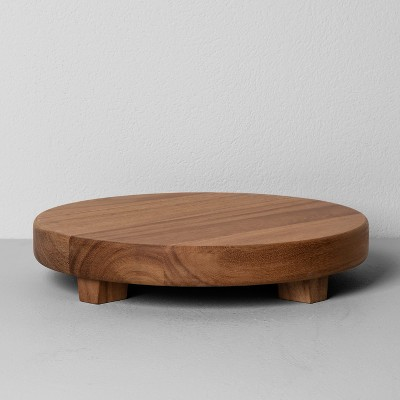 Acacia Wood Round Footed Tray Large - Hearth & Hand™ with Magnolia
