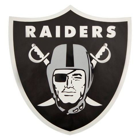 NFL Oakland Raiders Small Outdoor Logo Decal : Target