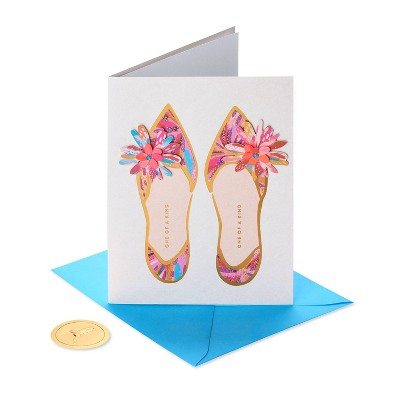 Mother's Day Greeting Card Floral Shoes - PAPYRUS