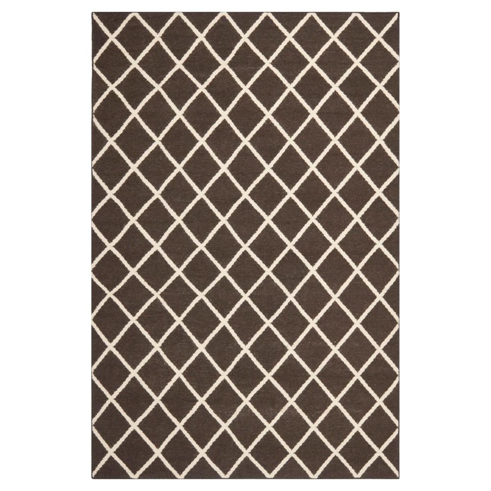 Brant Flatweave Wool Rug - Brown/Ivory (6'x9') - Safavieh