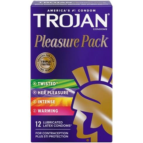 Trojan Pleasure Pack Lubricated Condoms - image 1 of 4