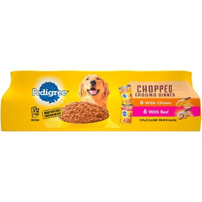 Pedigree Chopped Ground Dinner Multipack Beef & Chicken Canned - Wet Dog Food - 13.2oz / 12ct