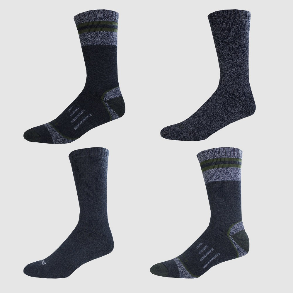 Dickies Men's Moisture Control Marled All Season 4pk Crew Socks - Navy (Blue) 6-12