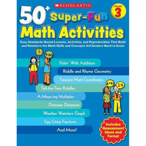 50+ Super-Fun Math Activities: Grade 3 - by  Carolyn Ford Brunetto (Paperback) - image 1 of 1