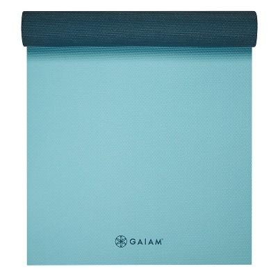 Gaiam SB 6mm Yoga Mat - Purist Blue/Grey