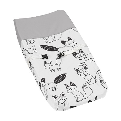 Sweet Jojo Designs Changing Pad Cover - Fox - Black/White
