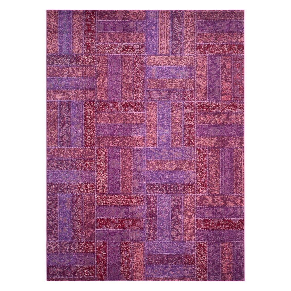 9'X12' Geometric Area Rug Purple - Safavieh, Purple/Multi-Colored