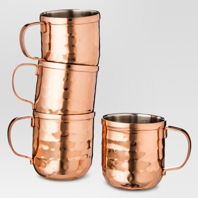 4pc Moscow Mule Mug Shot Glasses Copper - Threshold™