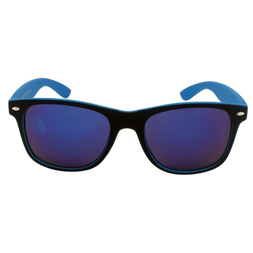 Women's Color Block Surf Sunglasses - Blue/Black