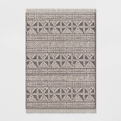 5' x 7' Tasseled Outdoor Rug Charcoal - Opalhouse™