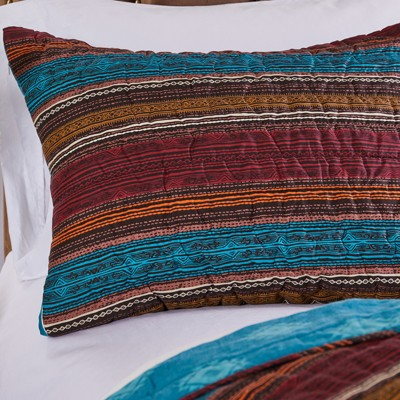 Barefoot Bungalow Tucson Quilted Pillow Sham, Coffee