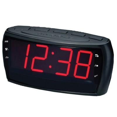Supersonic Digital AM/FM Alarm Clock Radio withJumbo Digital Display & AUX Input