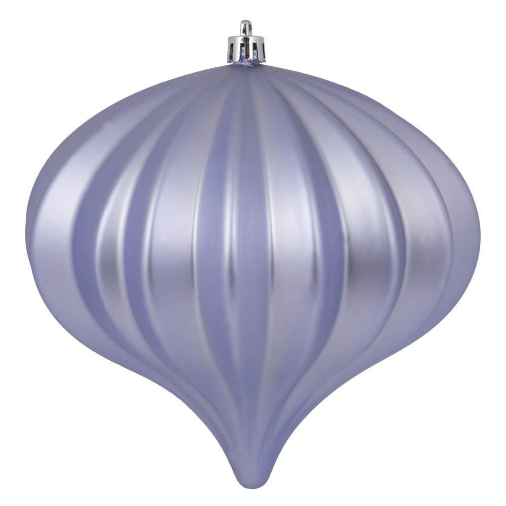 "Image of ""3ct Vickerman 5.7"""" Matte Onion Ornament, UV Coated Ornament Set Lilac"""