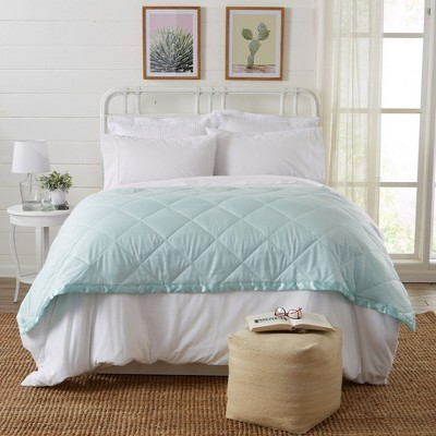 Great Bay Home Romana Lightweight Down Alternative With Satin Trim Bed Blanket