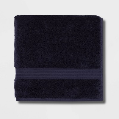 Antimicrobial Oversized Bath Towel Navy - Total Fresh