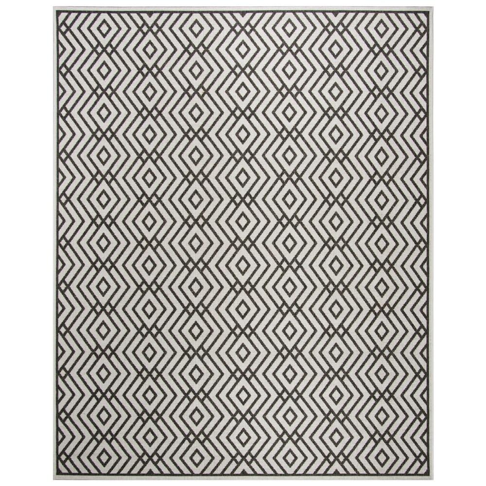 8'X10' Geometric Loomed Area Rug Light Gray/Charcoal (Light Gray/Grey) - Safavieh