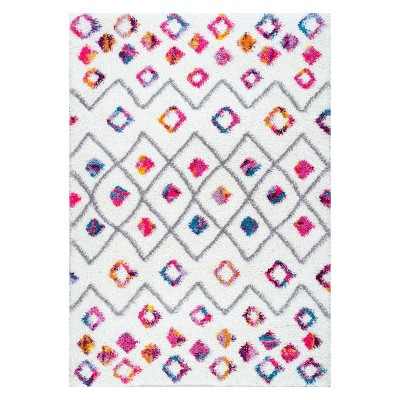 Pink Solid Loomed Area Rug 4'X6' - nuLOOM