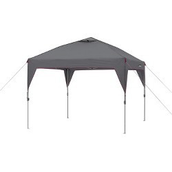CORE Instant Canopy 10 x 10 Foot Outdoor Pop Up Shade Canopy Shelter Tent, Gray