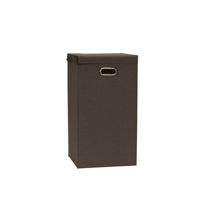 Household Essentials Collapsible Laundry Hamper Gray/Brown