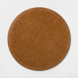 Faux Leather Charger Brown - Threshold™