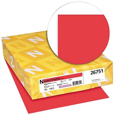 Exact Color Copy Paper, 8-1/2 x 11 Inches, 20 lb, Bright Red, 500 Sheets