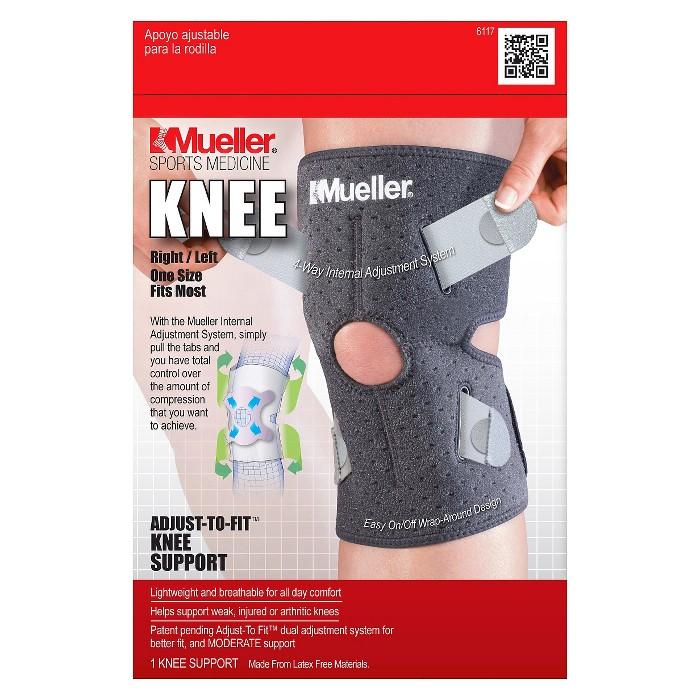 Mueller Adjust-To-Fit Knee Support Black - image 1 of 1
