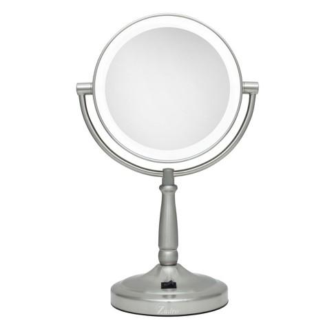 Zadro Pedestal Vanity Mirror - Satin Nickel - image 1 of 3
