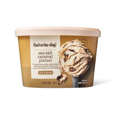 Sea Salt Caramel Pretzel Ice Cream - 48oz - Favorite Day™