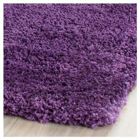 Purple Solid Shag Flokati Loomed Area Rug 10 X14 Safavieh