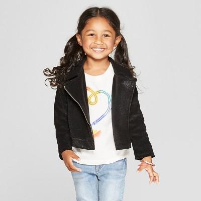 ef2da3667 Toddler Girls  Sparkle Knit Moto Jacket - Genuine...   Target
