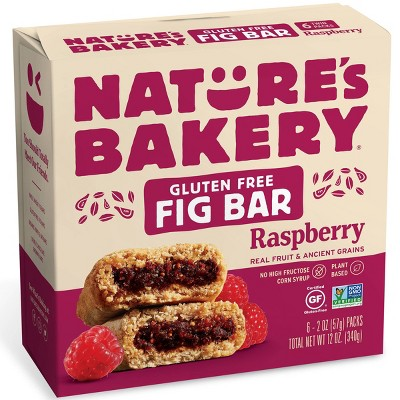 Nature's Bakery Gluten Free Raspberry Fig Bar - 6ct