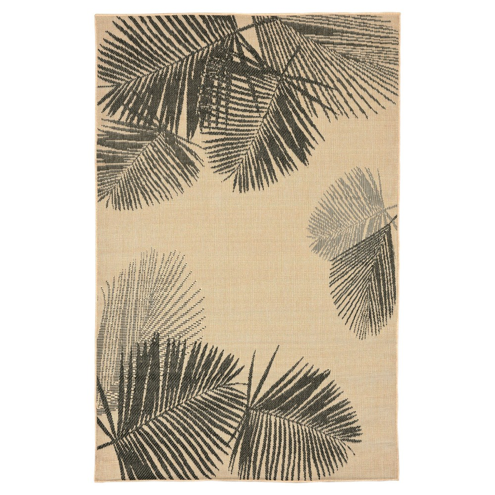 Terrace Indoor/Outdoor Palm Neutral Rug 7'10