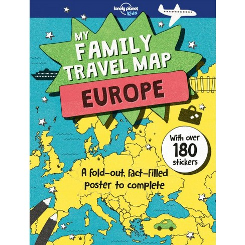 My Family Travel Map Europe Lonely Planet Kids Paperback Target