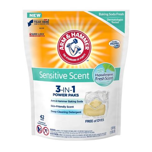 Arm & Hammer Sensitive Plus 3-in-1 Laundry Detergent Paks - 42ct - image 1 of 4