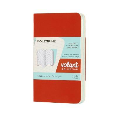 Moleskine Lined Professional Journal XS Volant Coral/Aqua