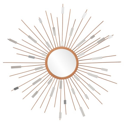 Sunburst  Mirrored Wall Sculpture - Painted Gold - Aiden Lane - image 1 of 4