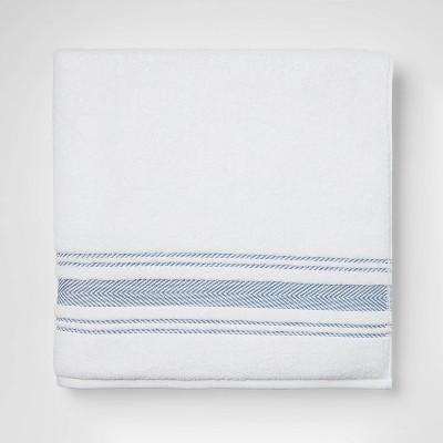 Performance Bath Sheet Dark Blue Stripe - Threshold™
