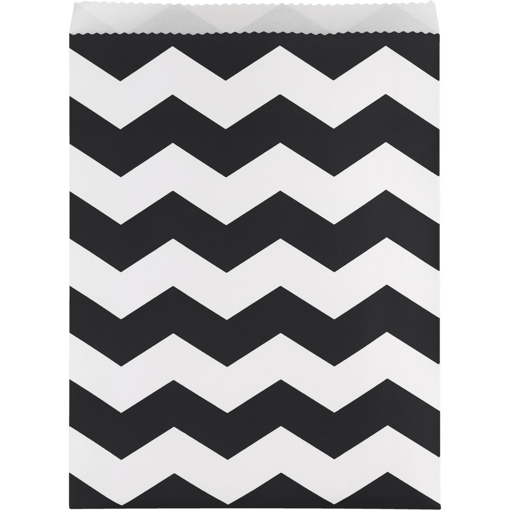 Image of 10ct Black Chevron Treat Bags
